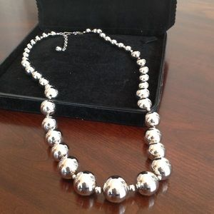 Vintage silver beaded necklace